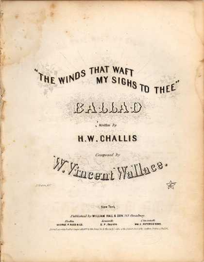 Sheet Music - The winds that waft my sighs to thee