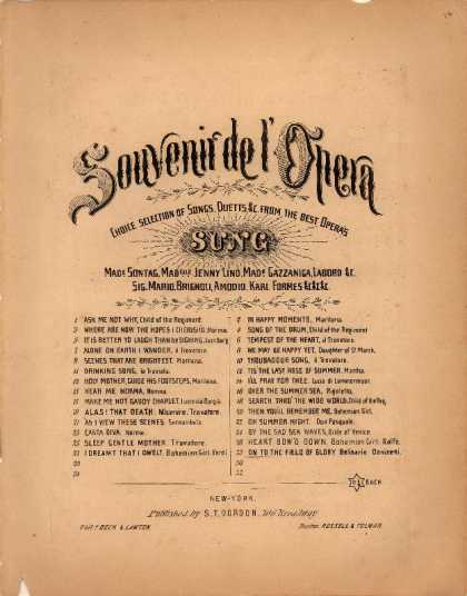 Sheet Music - On to the field of glory; Belisario