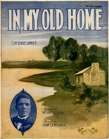 Sheet Music - In my old home in Dixie land
