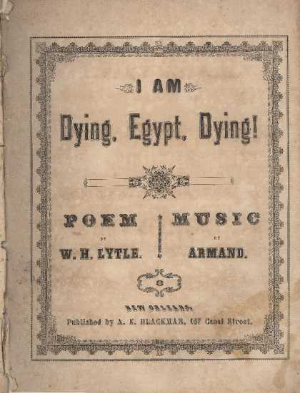 Sheet Music - I am dying, Egypt, dying; op. 632