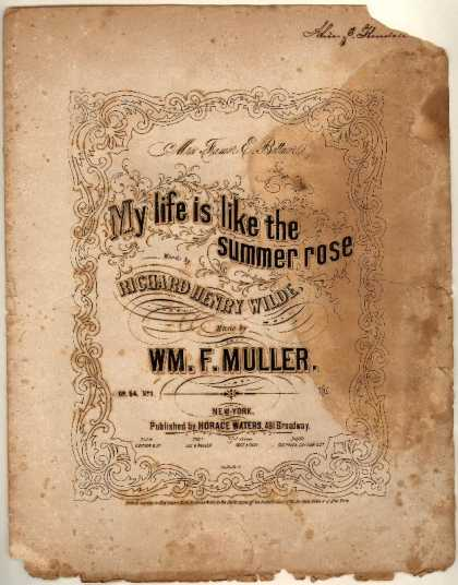 Sheet Music - My life is like the summer rose; op. 54, no. 1