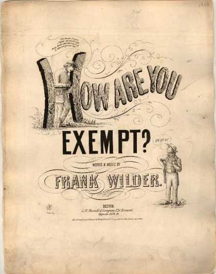 Sheet Music - How are you exempt?