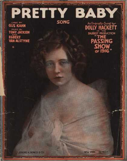 Sheet Music - Pretty baby; Passing show of 1916