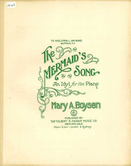 Sheet Music - The mermaid's song