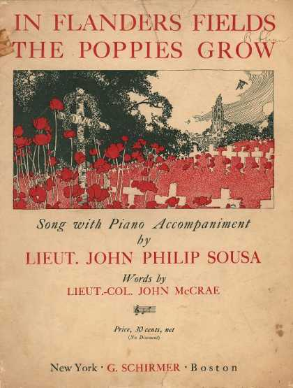 Sheet Music - In Flanders fields the poppies grow