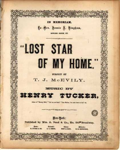 Sheet Music - Lost star of my home