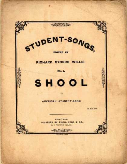 Sheet Music - Shool; American student song
