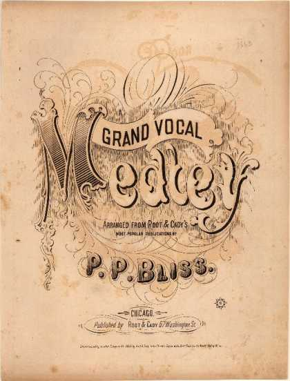 Sheet Music - Grand vocal medley arranged from Root & Cady's most popular publications