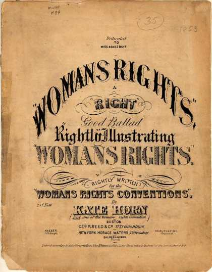 Sheet Music - Womans right; A right good ballad rightly illustrating womans rights