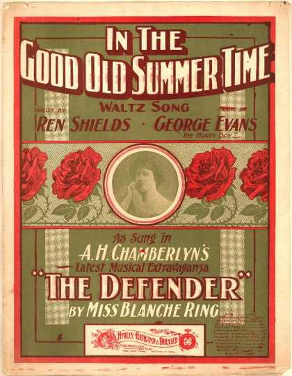 Sheet Music - In the good old summer time; The defender