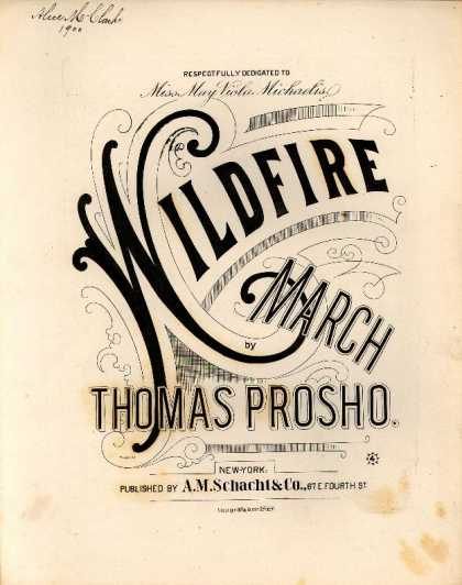 Sheet Music - Wildfire march