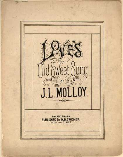 Sheet Music - Love's old sweet song