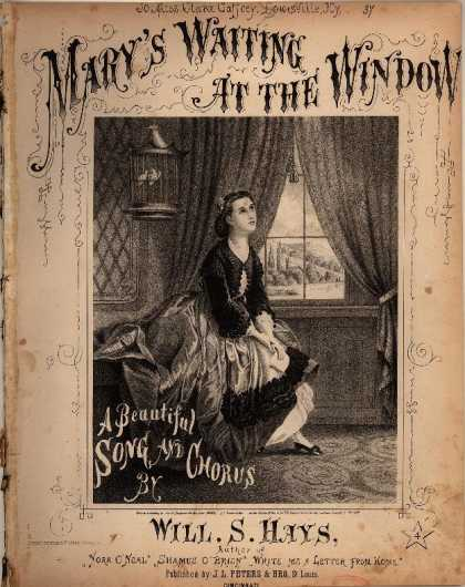 Sheet Music - Mary's waiting at the window