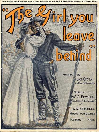 Sheet Music - The girl you leave behind