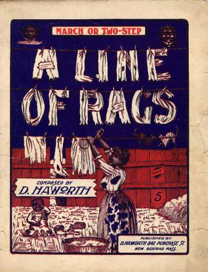 Sheet Music - Line of rags; March or two step