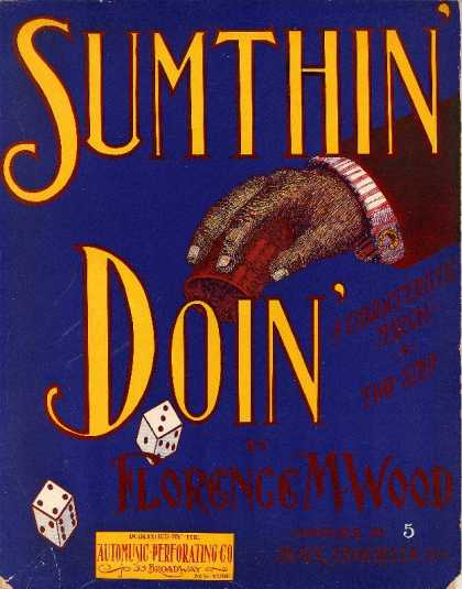 Sheet Music - Sumthin' doin' : Characteristic march & two-step