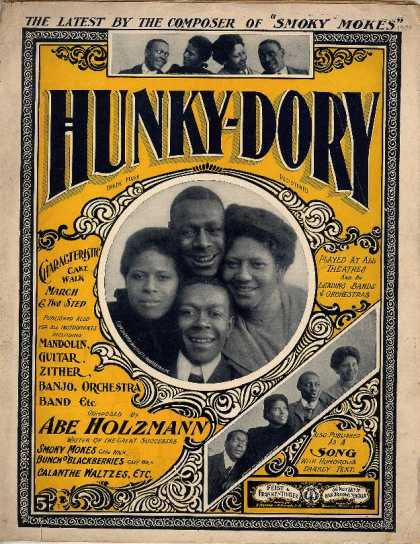 Sheet Music - Hunky-dory; Characteristic cake walk and two step