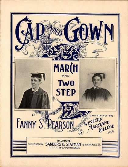 Sheet Music - Cap and gown march and two step