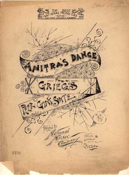 Sheet Music - Anitra's dance; Peer Gynt Suite