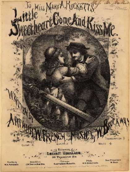 Sheet Music - Little sweetheart come and kiss me