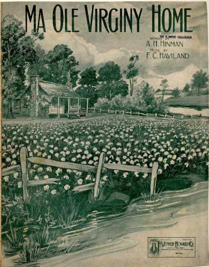 Sheet Music - Ma old Virginy home;