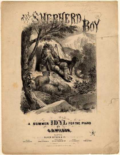 Sheet Music - The shepherd boy; A summer idyl; Op. 14