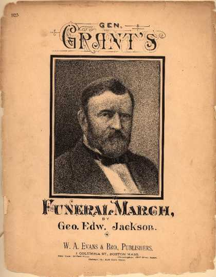 Sheet Music - General Grant's funeral march