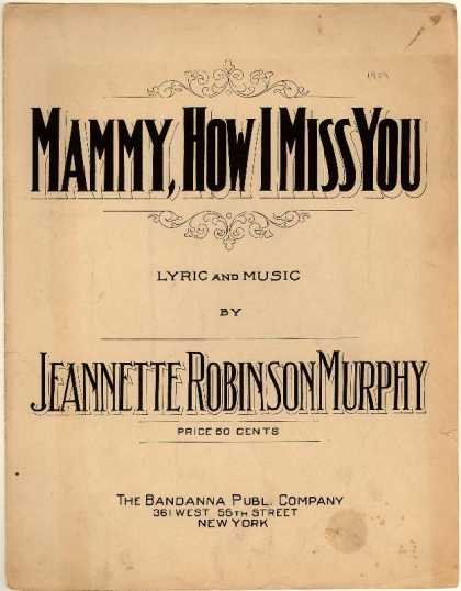 Sheet Music - Mammy, how I miss you