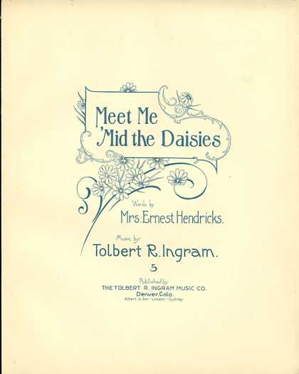 Sheet Music - Meet me 'mid the daisies