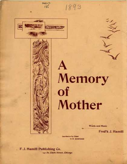 Sheet Music - Memory of mother; Nearer my God to Thee