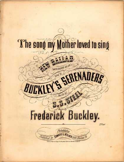 Sheet Music - Song my mother loved to sing