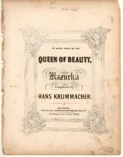 Sheet Music - Queen of beauty