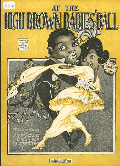 Sheet Music - At the high brown babies' ball