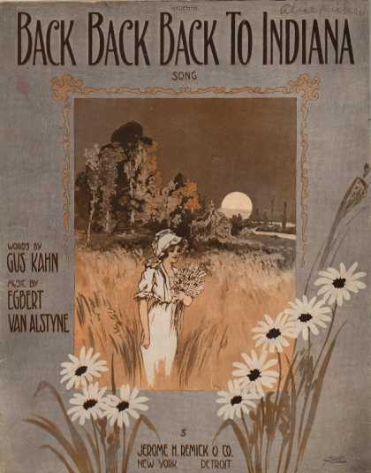 Sheet Music - Back back back to Indiana