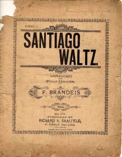 Sheet Music - Santiago waltz