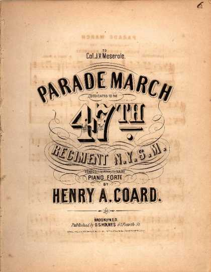 Sheet Music - Parade march