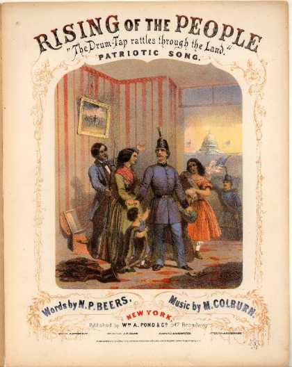 Sheet Music - Rising of the people; The drum-tap rattles through the land