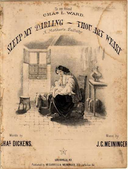 Sheet Music - Sleep my darling, thou art weary; Mother's lullaby