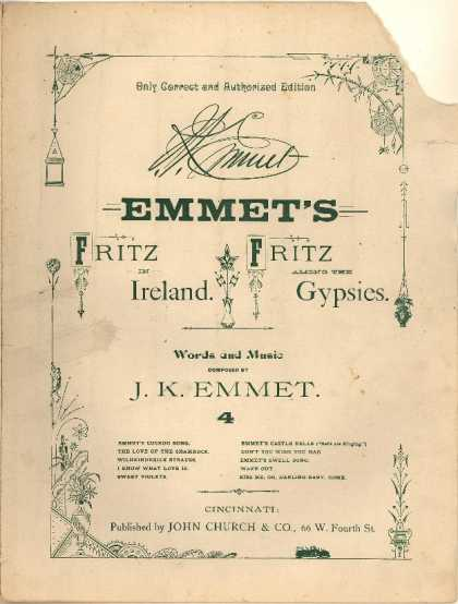 Sheet Music - Swell song; Fritz in Ireland