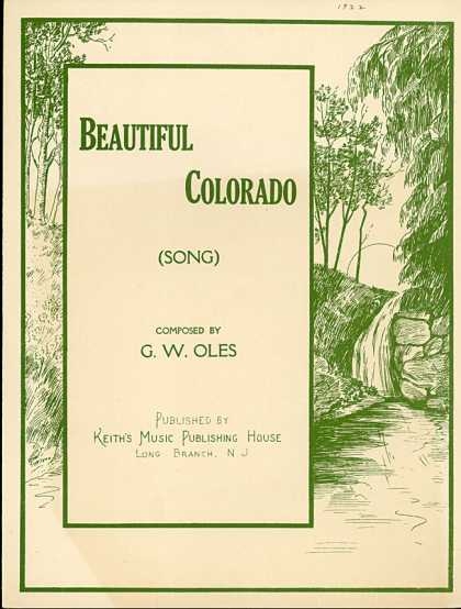 Sheet Music - Beautiful Colorado