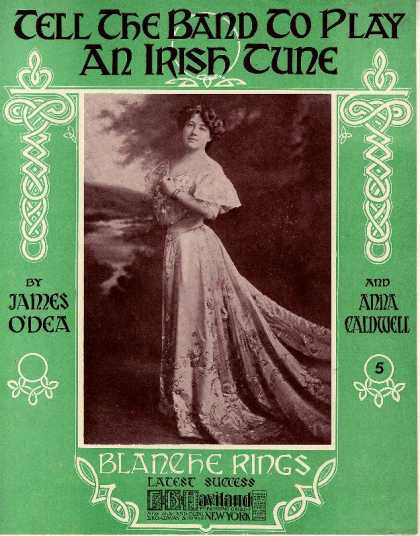 Sheet Music - Tell the band to play an Irish tune
