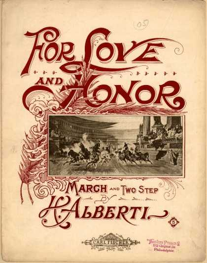 Sheet Music - For love and honor