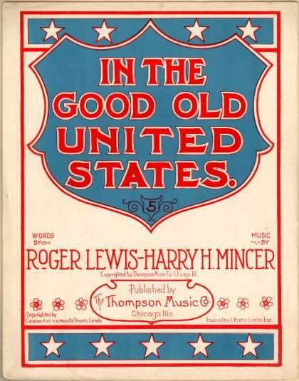 Sheet Music - In the good old United States
