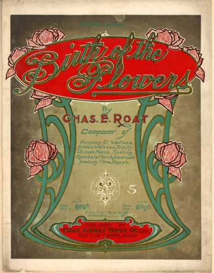 Sheet Music - Birth of the flowers