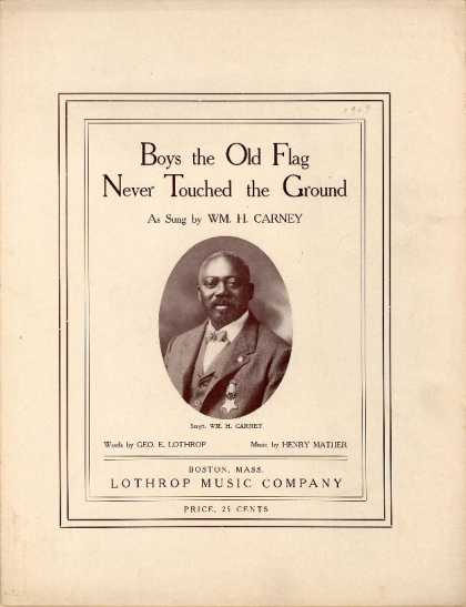 Sheet Music - Boys the old flag never touched the ground