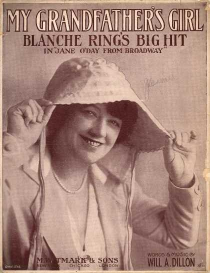 Sheet Music - My grandfather's girl; Jane O'Day