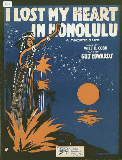 Sheet Music - I lost my heart in Honolulu