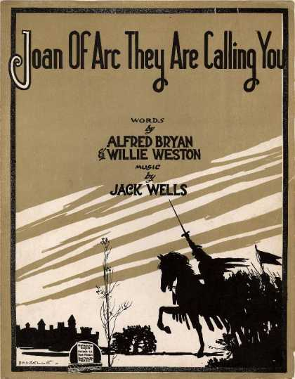 Sheet Music - Joan of Arc they are calling you