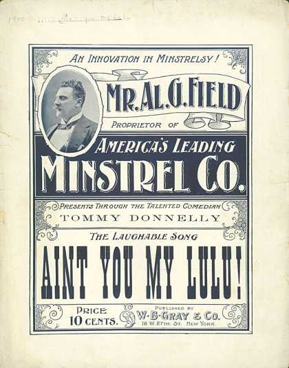 Sheet Music - Aint you my Lulu!
