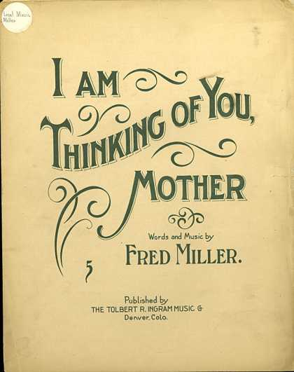 Sheet Music - I am thinking of you, Mother